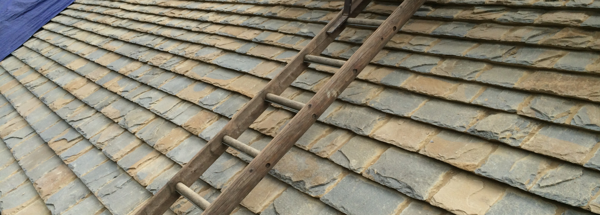 Collyweston slate roof